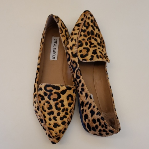 b76269d476ba Steve Madden Shoes | Feather Leopard Print Loafers 75 | Poshmark